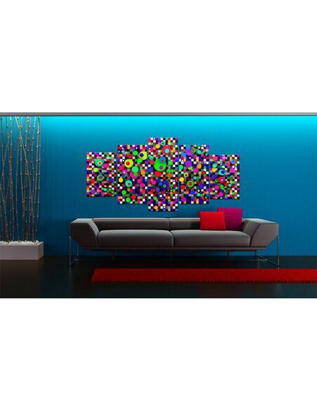 Tableau - 5 tableaux - Colors, colors, colors - par Artgeist