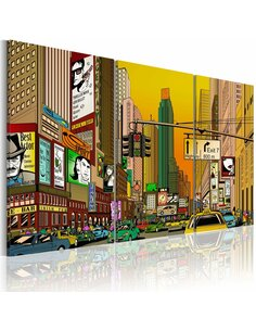 Tableau CARTOON NYC - New York par Artgeist