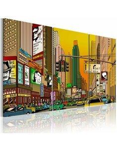 Tableau CARTOON NYC - par Artgeist