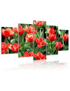 Tableau - 5 tableaux - Parterre de fleurs - par Artgeist