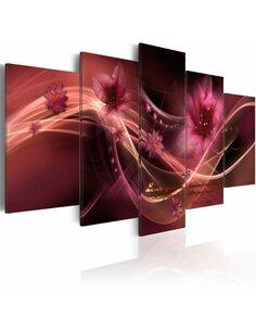 Tableau - 5 tableaux - Finesse violete - par Artgeist