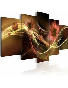 Tableau - 5 tableaux - Fleurs fumées - par Artgeist