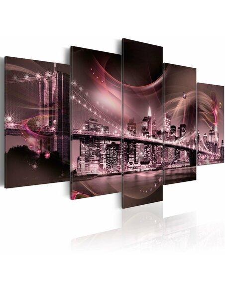 Tableau - 5 tableaux - Rétrospection - New York - par Artgeist