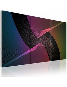 Tableau Triptyque - Colorée abstraction moderne - par Artgeist