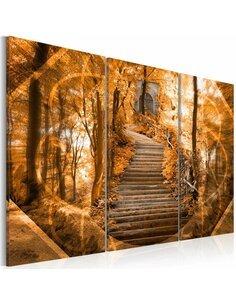 Tableau Triptyque - Escalier vers le ciel Zen Artgeist