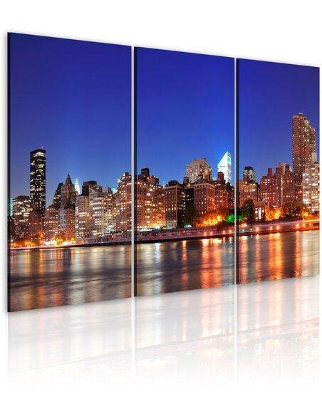 Tableau NYC VILLE D'UN MILLION DE LUMIÈRES - par Artgeist