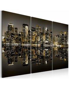Tableau L'OR DE NEW YORK - par Artgeist