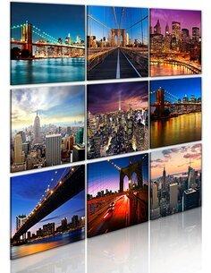 Tableau NEW YORK EN NEUF SCÈNES - par Artgeist