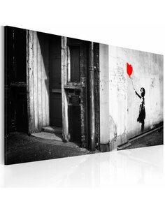 Tableau FILLE AVEC BALLON Bansky - par Artgeist