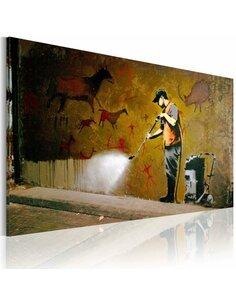Tableau BLANCHIMENT DES CAVES LASCAUX Bansky - par Artgeist