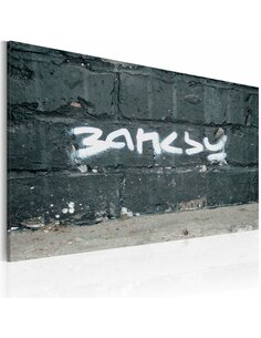 Tableau BANKSY: SIGNATURE - par Artgeist