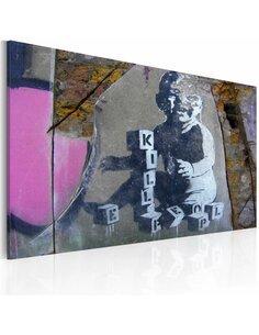 Tableau L'Enfant Tueur (Banksy)  - par Artgeist