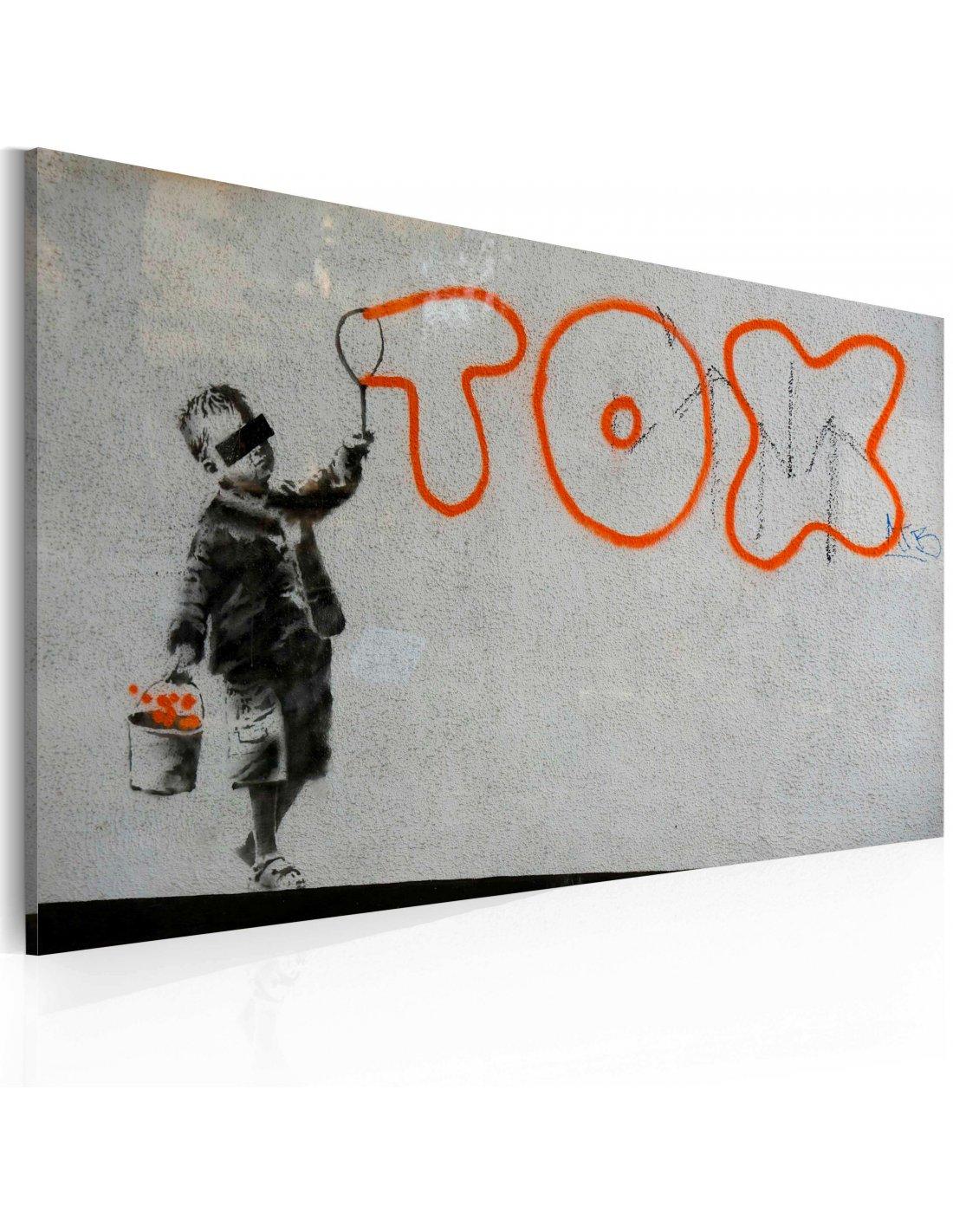 tableau papier peint graffiti banksy 74 90 chez recollection. Black Bedroom Furniture Sets. Home Design Ideas
