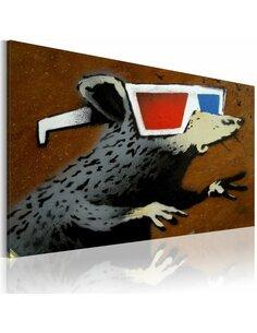 Tableau Rat Avec Des Lunettes 3D (Banksy)  Art urbain Artgeist