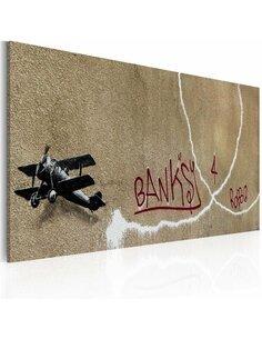 Tableau AVION DE L'AMOUR Bansky - par Artgeist
