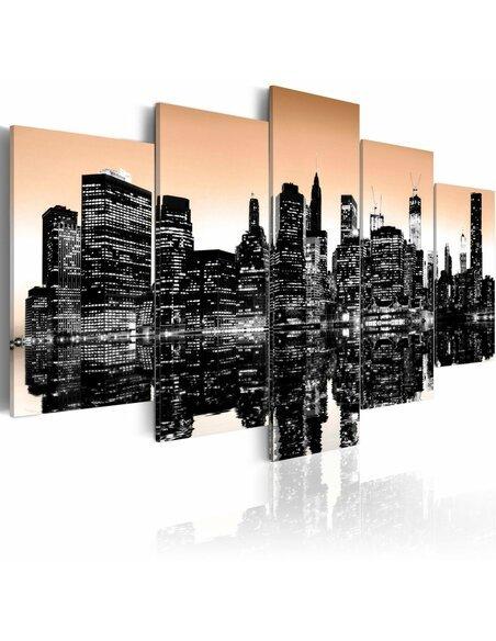 Tableau NEW YORK SE NOIE 5 pièces - par Artgeist