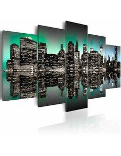Tableau - 5 tableaux - Lumières de New York - 5 pièces - par Artgeist