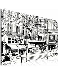 Tableau ESQUISSE DE LA PLACE PARISIENNE - par Artgeist