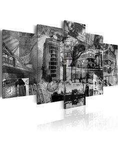 Tableau L'ESSENCE DE LONDRES 5 pièces - par Artgeist