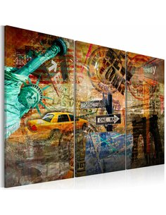 Tableau L'ESSENCE DE NEW YORK - Art urbain par Artgeist