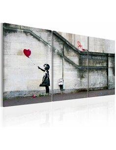 Tableau IL YA TOUJOURS DE L'ESPOIR Bansky Triptyque - par Artgeist