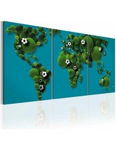 Tableau Le Plus Grand Terrain De Sport Du Monde  Cartes du monde Artgeist