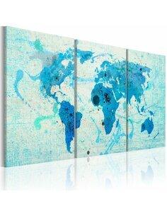 Tableau Continents Comme Les Océans  Cartes du monde Artgeist