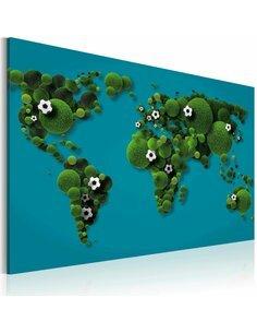 Tableau Continents Ronds Comme Un Ballon  Cartes du monde Artgeist