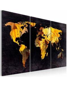 Tableau Triptyque - Si le monde était un désert ... Cartes du monde Artgeist