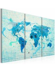 Tableau Triptyque - Terres et océans - par Artgeist