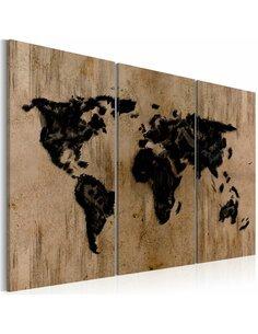 Tableau Triptyque - Mysterious map of the World - par Artgeist