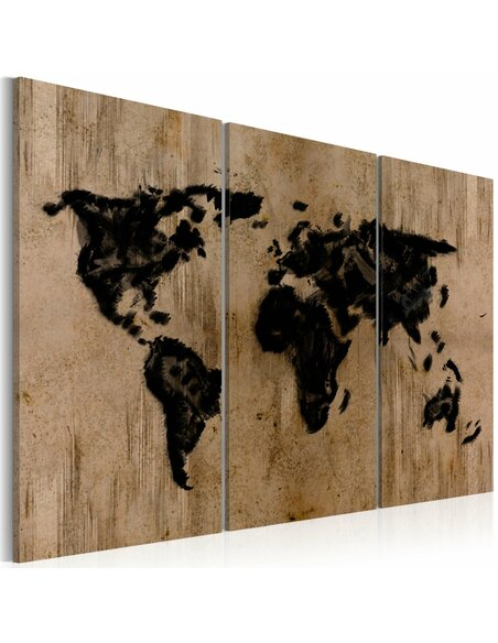 Tableau Triptyque - Mysterious map of the World - par Artgeist