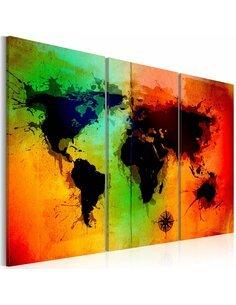 Tableau Triptyque - Terres noires - par Artgeist