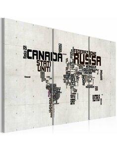 Tableau Carte En Italien  Cartes du monde Artgeist
