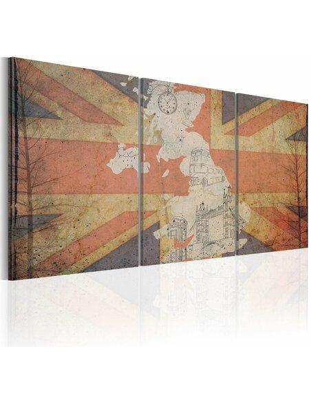 Tableau Carte De La Grande-Bretagne (Vintage)  - par Artgeist