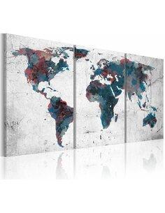 Tableau La Randonnée Des Continents  Cartes du monde Artgeist