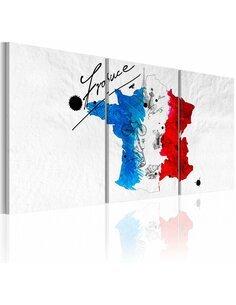 Tableau Carte De France  Cartes du monde Artgeist