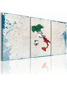 Tableau Endroits Célèbres Italie  Cartes du monde Artgeist