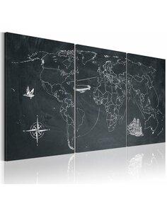 Tableau Sur Les Traces De Christophe Colomb  Cartes du monde Artgeist