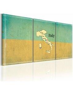 Tableau Carte: Italie  Cartes du monde Artgeist