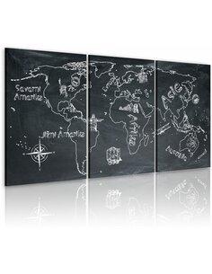 Tableau VOYAGEUR CURIEUX République Tchèque - Cartes du monde par Artgeist