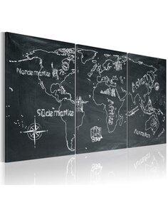 Tableau Voyageur Curieux (Allemagne)  Cartes du monde Artgeist