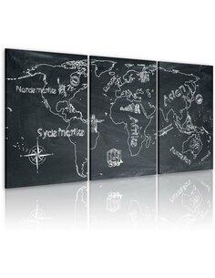 Tableau Voyageur Curieux (Suède)  Cartes du monde Artgeist