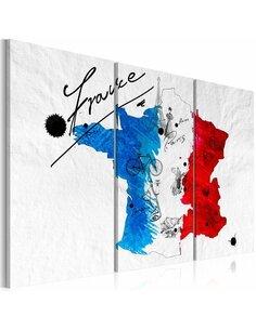 Tableau BIENVENUE EN FRANCE! Triptyque - par Artgeist