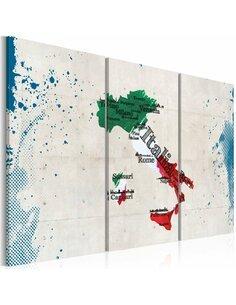 Tableau CARTE DE L'ITALIE Triptyque - par Artgeist