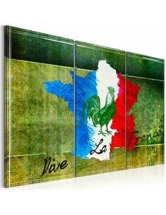 Tableau VIVE LA FRANCE Triptyque - par Artgeist