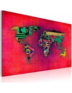 Tableau Le Monde Est À Moi Ii  Cartes du monde Artgeist