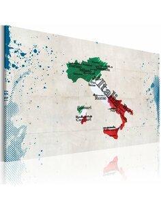 Tableau CARTE DE L'ITALIE - par Artgeist