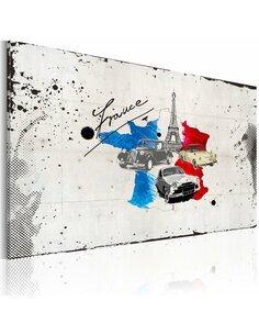 Tableau VOYAGEUR FRANÇAIS - Cartes du monde par Artgeist