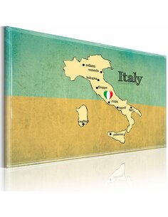 Tableau Cœur De L'Italie  Cartes du monde Artgeist